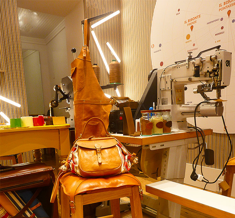 Il Bisonte canvas Bag in the Bleecker St Boutique