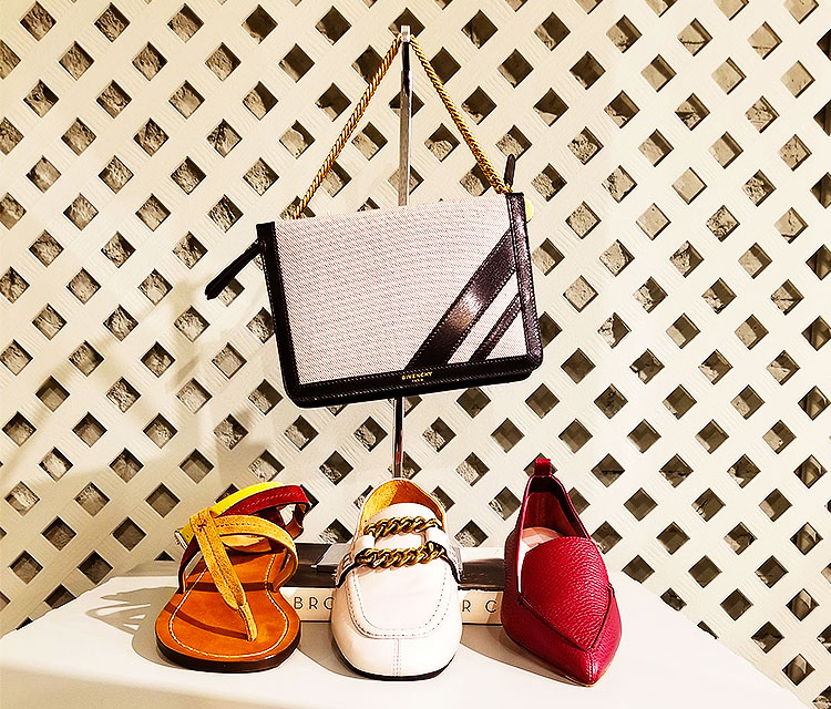 Handbag and shoes at Edon Manor Bleecker St