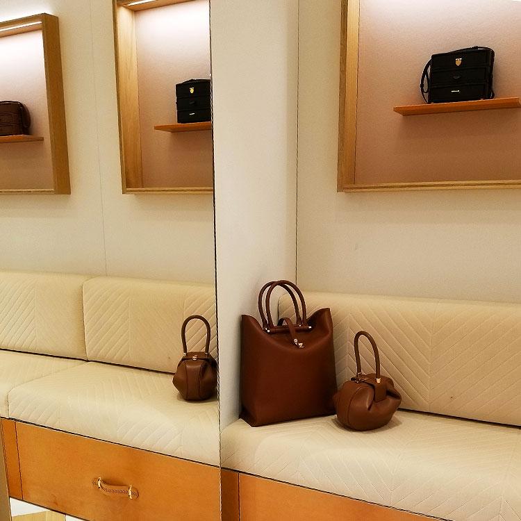 Handbags in the Gabriela Hearst boutique