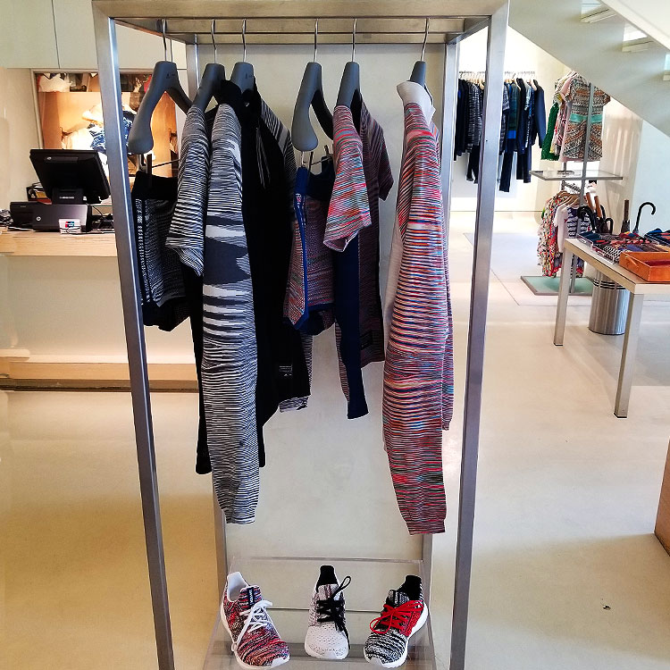 Adidas amd Missoni clothing and sneakers