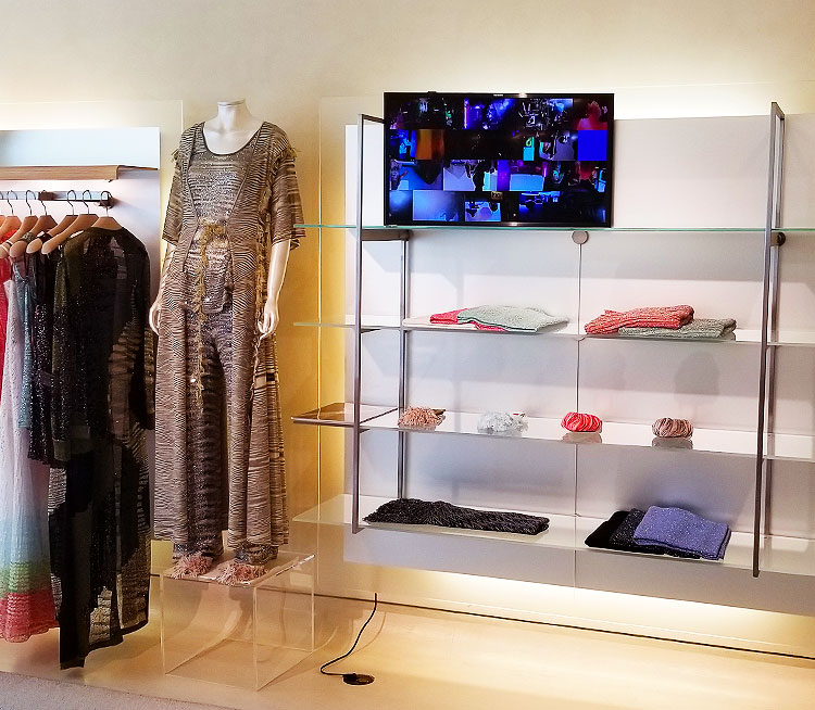 Art inside the Misooni Boutique in NYC