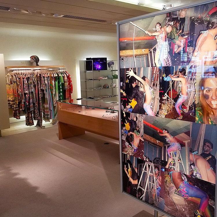Video art in the Missoni Boutique