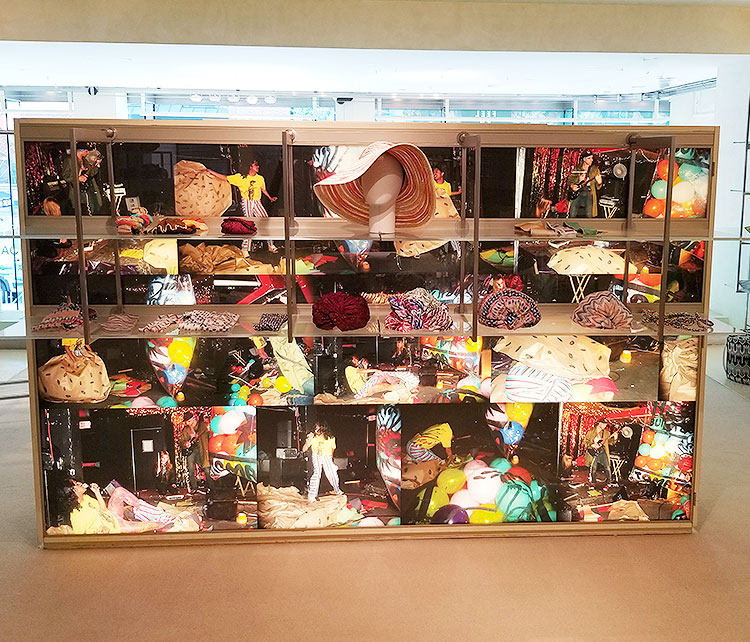 Women's accessories in the Missoni boutique