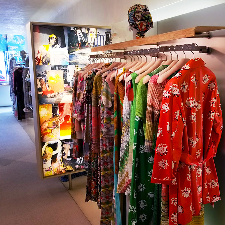 Clothing and art in the Missoni boutique
