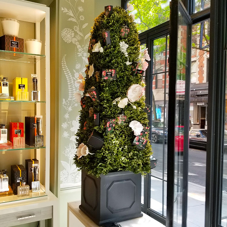 A fragrant topiary in the Nest store in Nolita