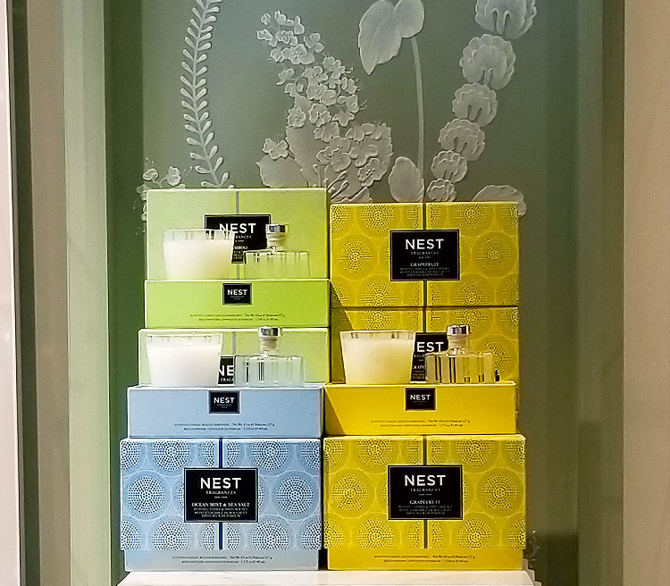 Home fragrances in the Nest Fragrance boutique