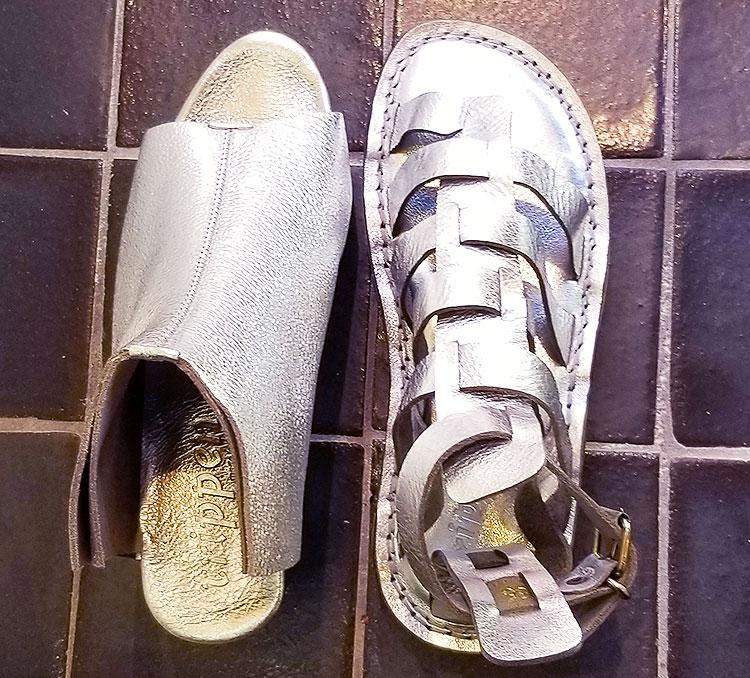 Trippen Silver Sandals