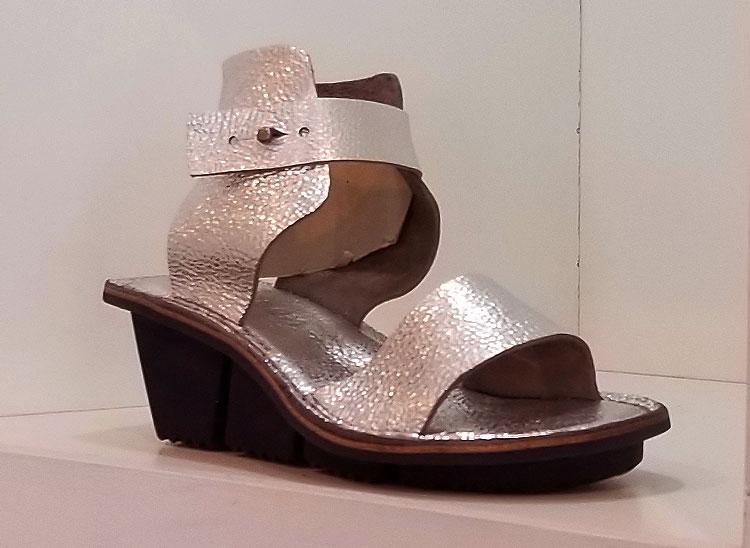 Trippen silver wedge sandals