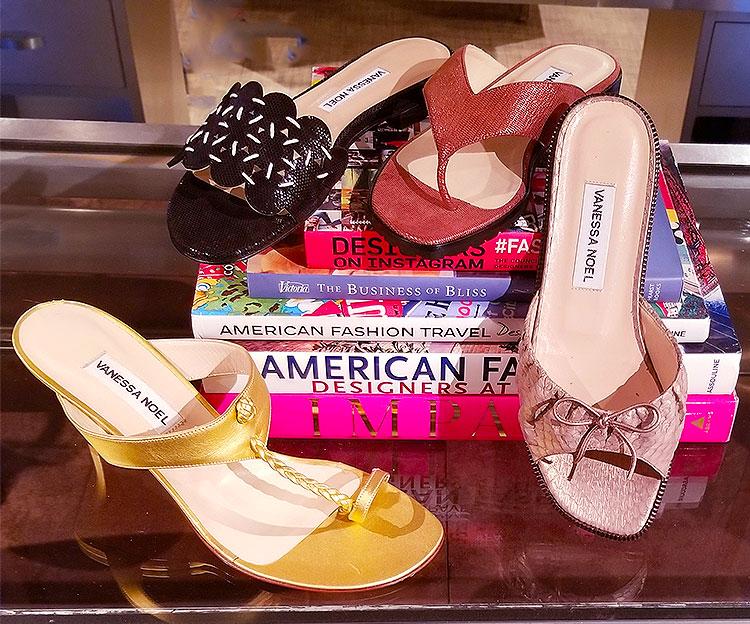 Summer sandals at Vanessa Noel store