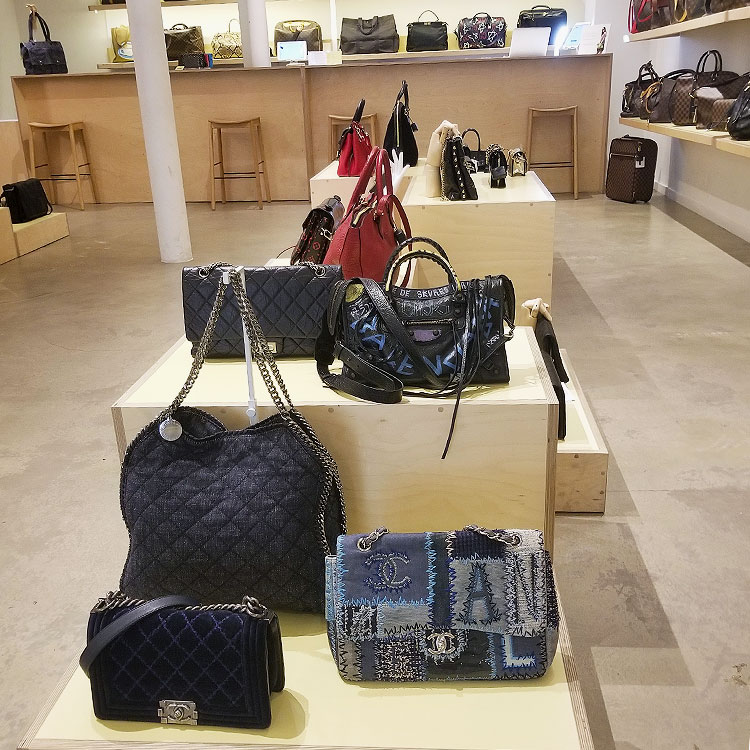 Chanel bags at Rebag in NYC