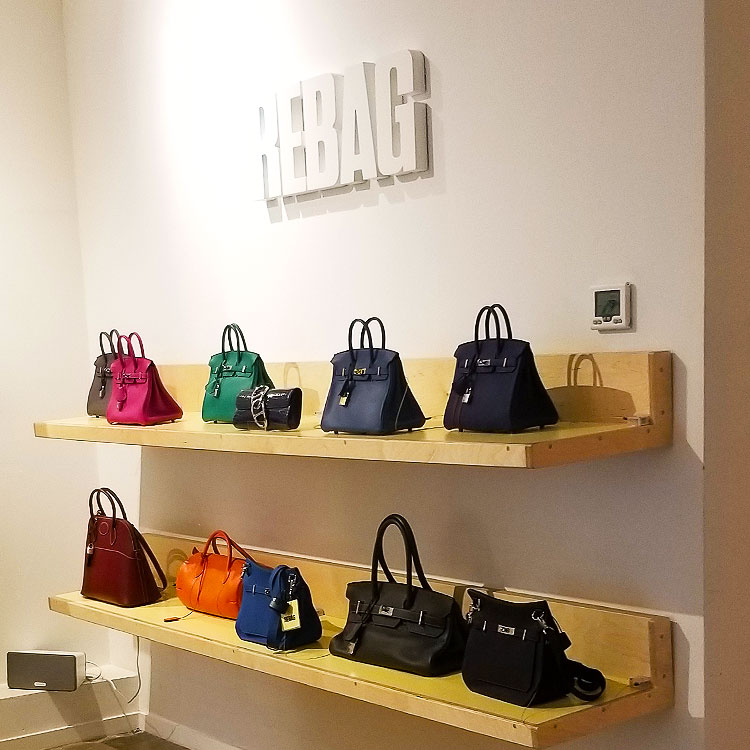 Hermes bags at Rebag in NYC