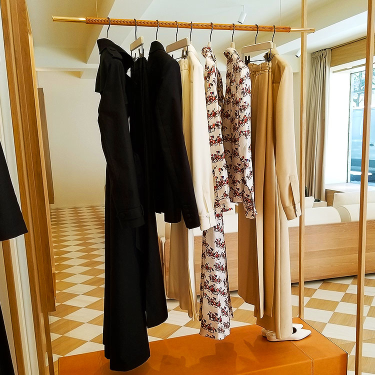 Clothing in the Gabriela Hearst store
