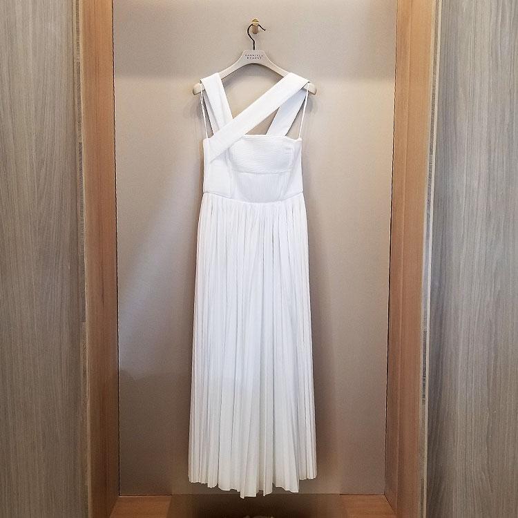 A white dress in the Gabriela Hearst store