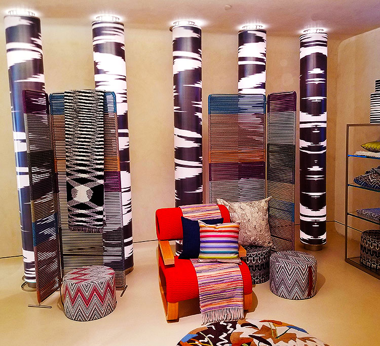 Missoni home goods in the NY store