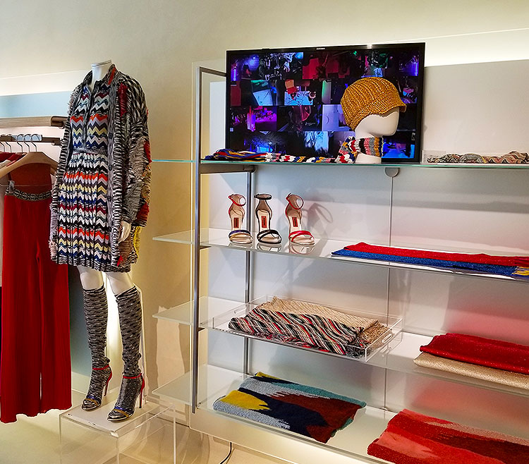 Fall clothing in the Missoni boutique