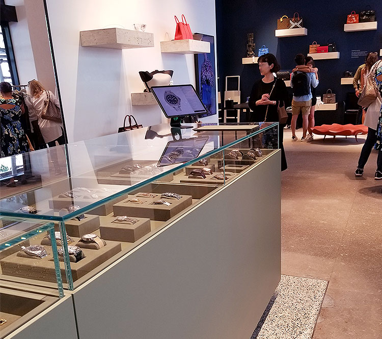 A jewelry counter at The RealReal