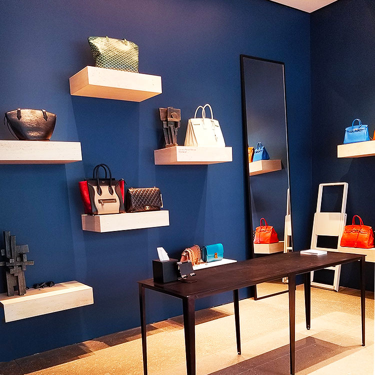 Bags displayed at the RealReal