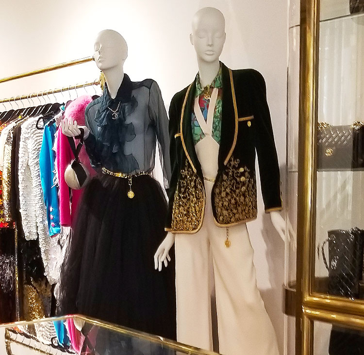 Chanel clothing mixed with other designers for sale in NYC