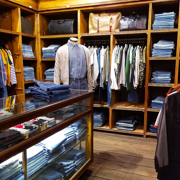 Men's clothing and Levi's at WGA