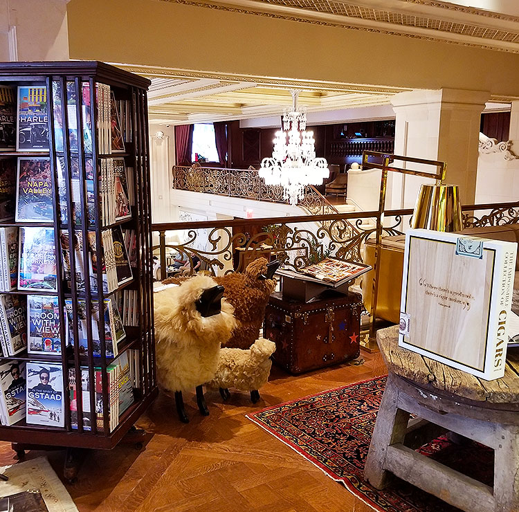 Inside the Assouline store in NYC