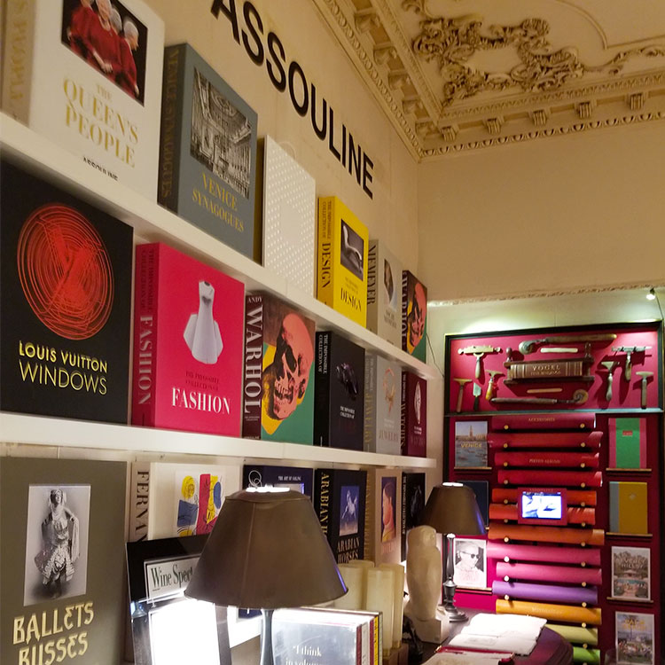 Books for sale at Assouline store NYC