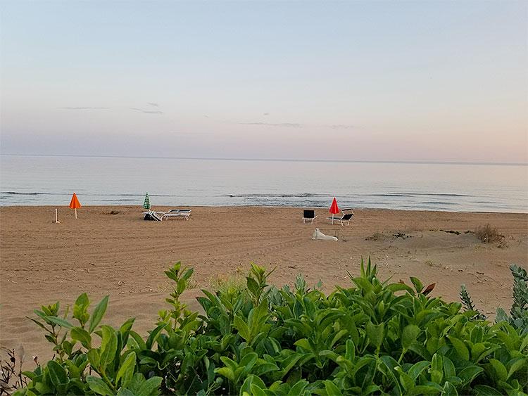 The beach at Da Vittorio Porto Palo