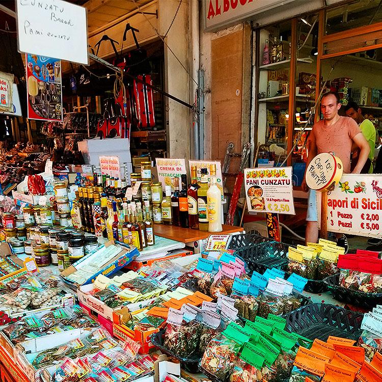The Ballaro market in Palermo