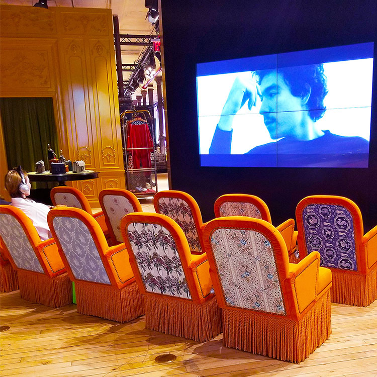 Private screening room at the Gucci Soho store