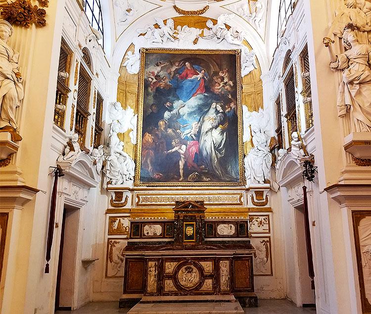 Inside the Oratorio di San Lorenzo
