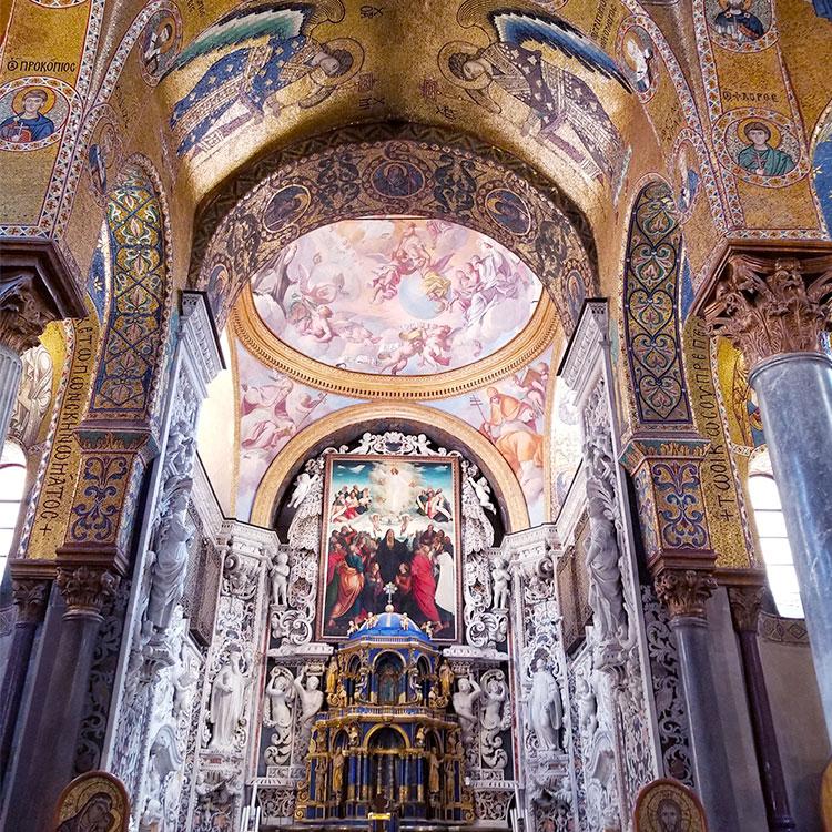 Inside the Martorana Palermo
