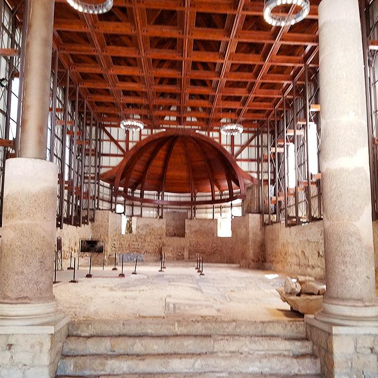 The basilica at Villa Romana