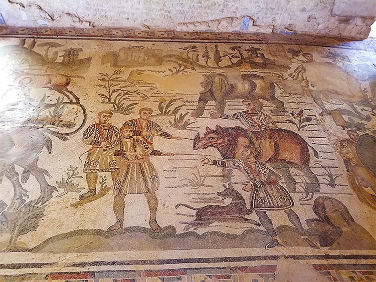 Mosacis at the Villa Romana