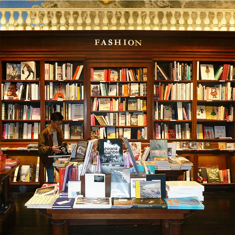 Books on fashion in Rizzoli Bookstore NYC