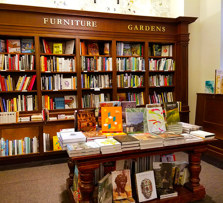Books on furniture and gardens at Rizzoli