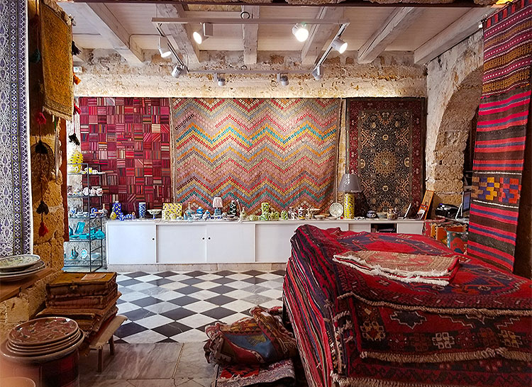 A rug store