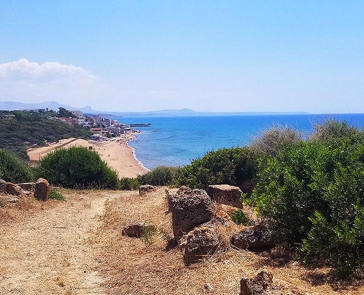 A Beach below the Selinute Acropolis