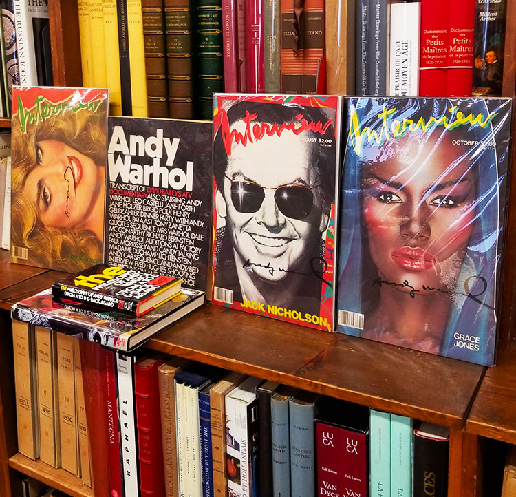 Copies of 1970's Interview Magazines signed by Andy Warhol