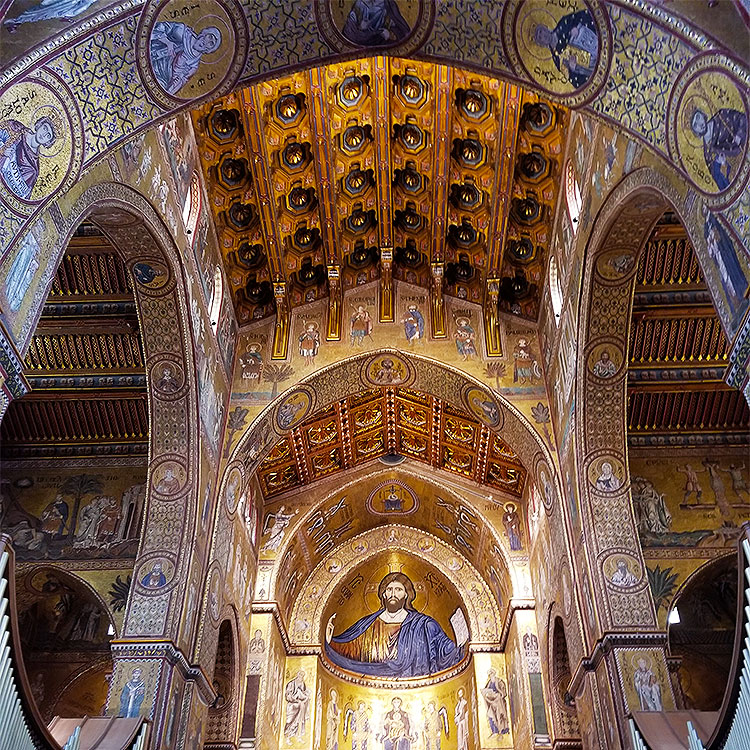 Inside the Cathedral of Monreale