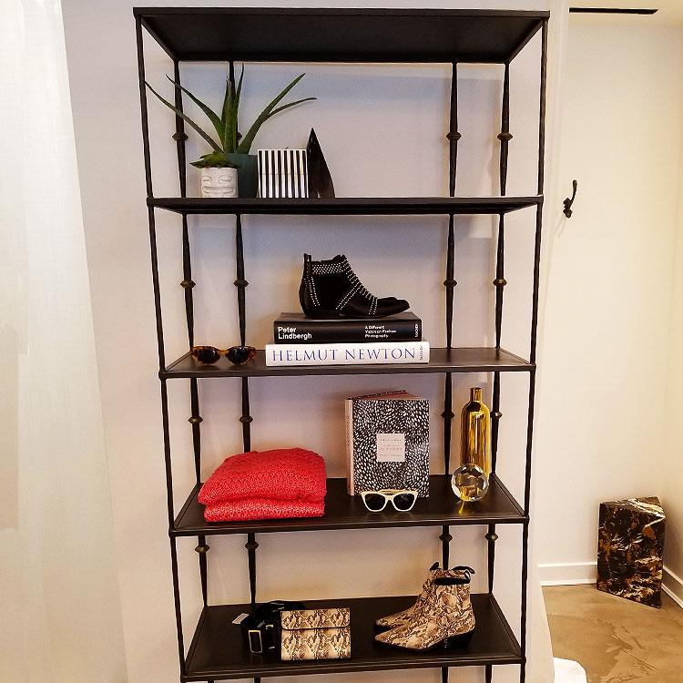 Display shelf at Anine Bing Madison Ave
