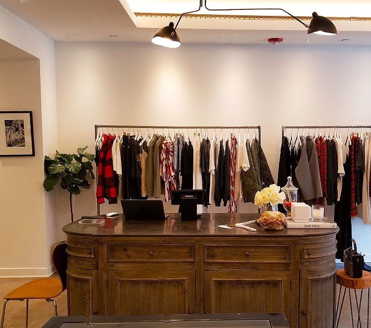 Inside the Anine Bing Madison Avenue store