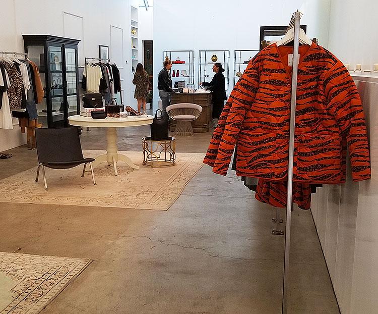 Inside a SOho clothing store
