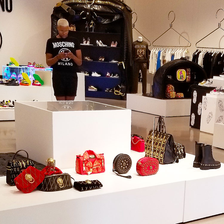 Inside the Moschino boutique in Soho