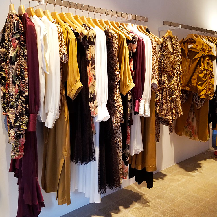 Clothing in the Zimmerman boutique NYC