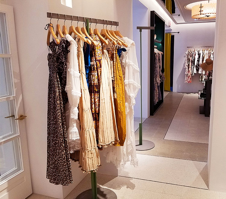 Clothing in the Zimmerman Madison Ave boutique