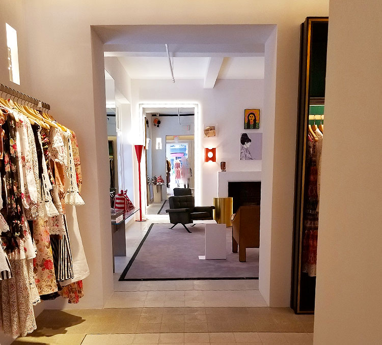 Inside the Zimmerman boutique NYC