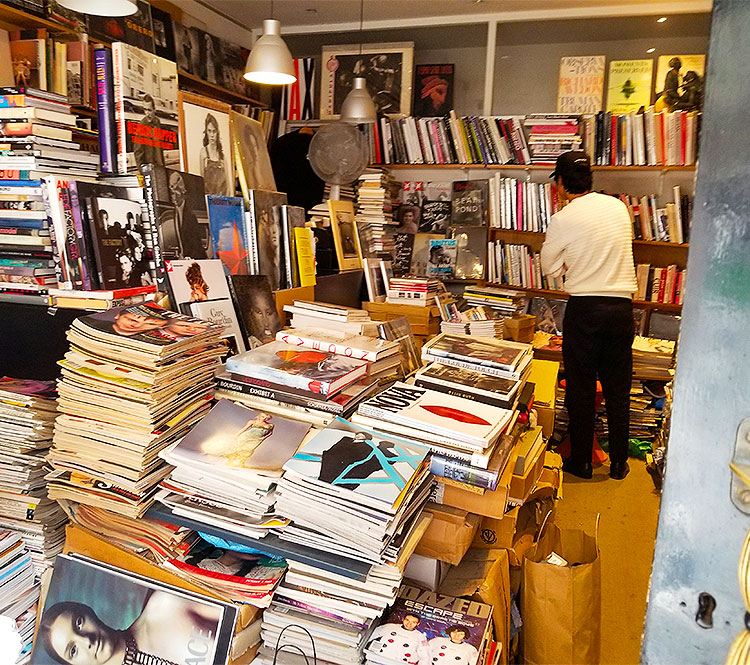 Collectible books and magazines in a bookstore