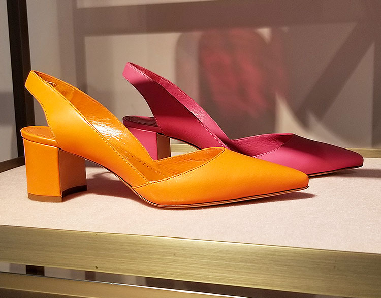 Sling Back shoes for sale in the Carolina Herrera boutique in NYC