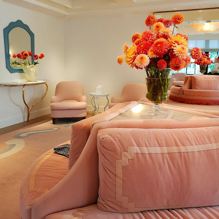 Inside the bridal salon in the Carolina Herrera boutique in NYC