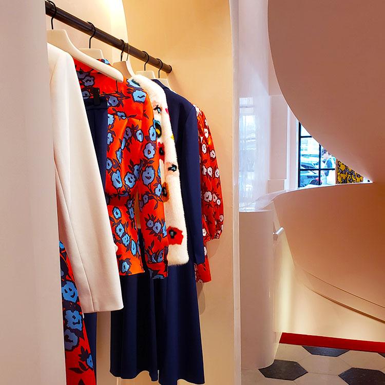 Clothing in the Carolina Herrera Madison Avenue boutique