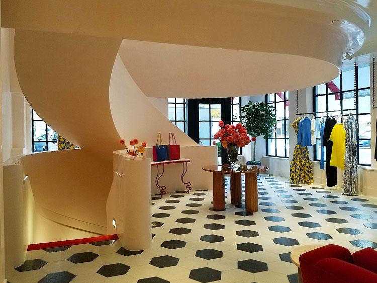 Inside the Carolina Herrera Madison Avenue boutique shopping